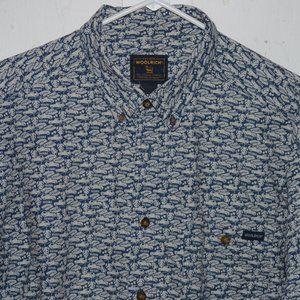 Woolrich short sleve mens shirt size XL J1035